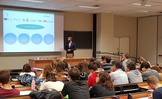 Maksym Gaiduk presents the IBH AAL Living Lab at the Università Politecnica delle Marche (Ancona, Italy)
